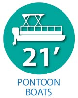 21' Pontoon Boats